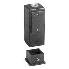 Arlington Industries GPD9W - Deck Mount GARD-N-POST, White