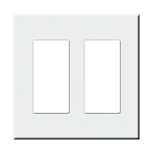 CentraLite 1071002-A - Double Gang Screwless Wallplate-Almond