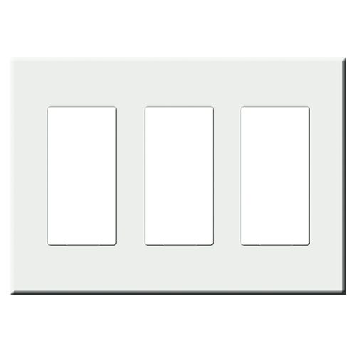 CentraLite 1071003-I - Triple Gang Screwless Wallplate-Ivory