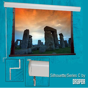 "Draper 201077 - 92"" Silhouette/C Tab-Tensioned 16:9 HDTV Projector Screen"