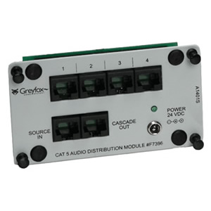 OnQ Legrand AU7396 - Cat-5(e) Audio Distribution Module - 1 Source/4 Zone