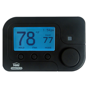 HAI RC1000BLZB - ZigBee Omnistat2 Single Stage Conventional and Heat Pump Thermostat - Black