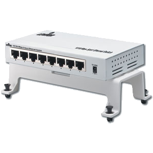 Leviton 47611-8PT - 8-Port 10/100 Ethernet Switch for Structured Media Enclosures