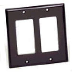 Leviton 80409 - 2-Gang Decora Wallplate - Brown